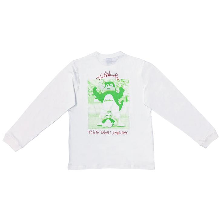 つば九郎バックプリントロングTシャツ(盛り上げ)