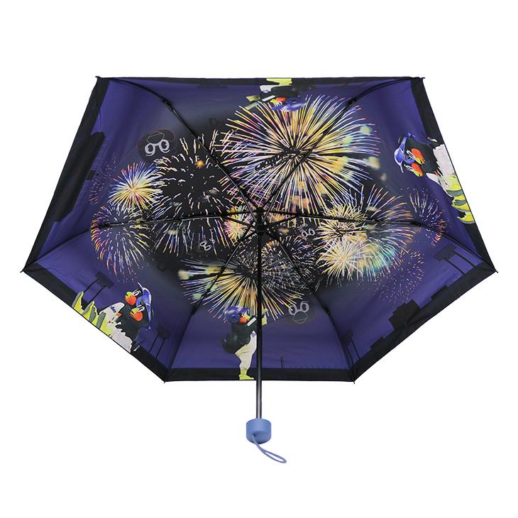 つば九郎晴雨兼用傘(花火)