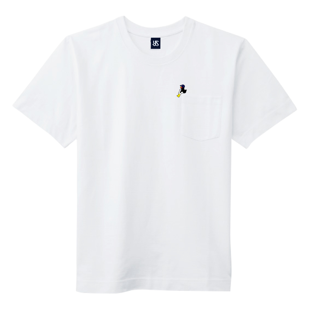 2021ポケット刺繍Tシャツ(こしかけつば九郎)