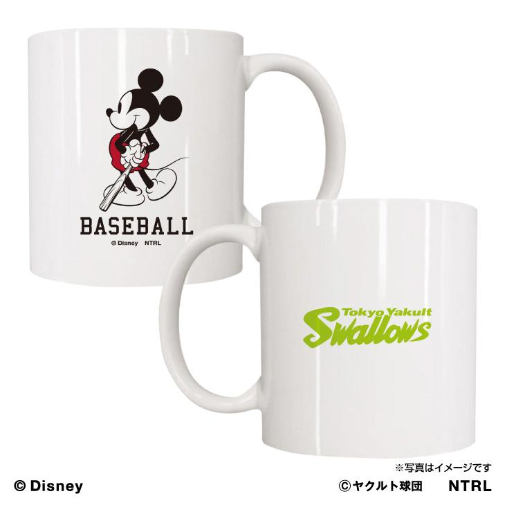 スワローズ×ミッキーマウス(BASE BALL)マグカップ