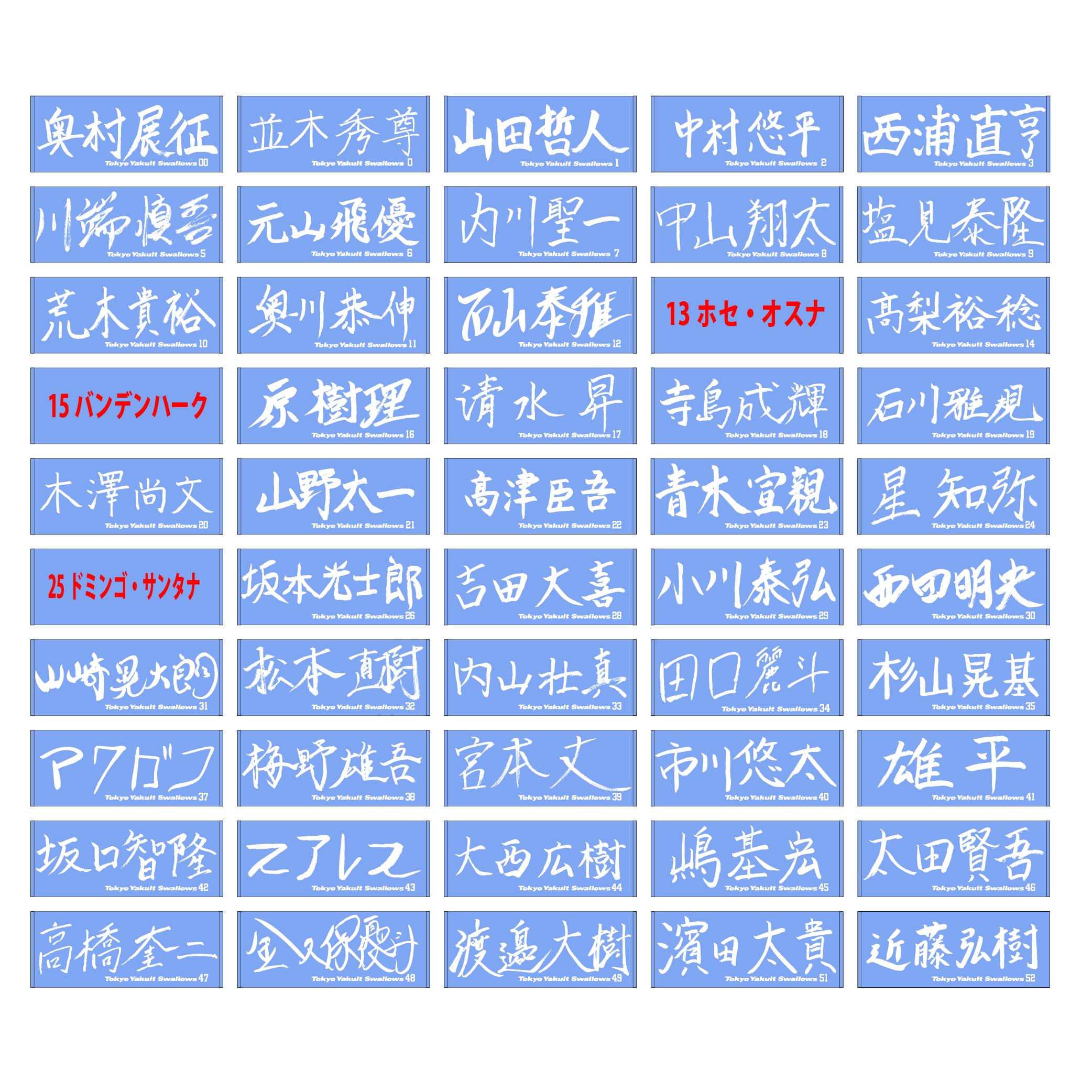 【イケメン総選挙投票権付全選手対応】特別直筆バスタオル(ライトブルー)