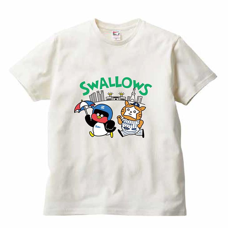 つば九郎×DB.スターマン×Seiji MatsumotoコラボTシャツ(ホワイト)