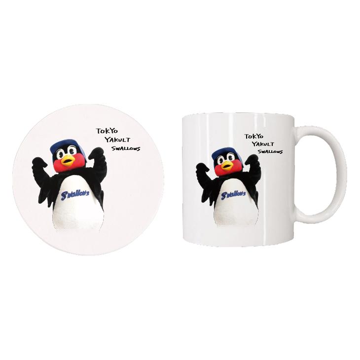 【つば九郎TVショッピング】つば九郎マグカップ&コースターセット(タイプI)