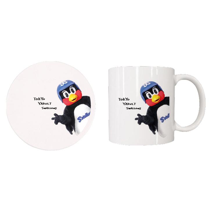 【つば九郎TVショッピング】つば九郎マグカップ&コースターセット(タイプH)