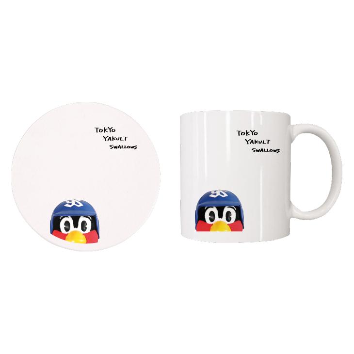【つば九郎TVショッピング】つば九郎マグカップ&コースターセット(タイプF)