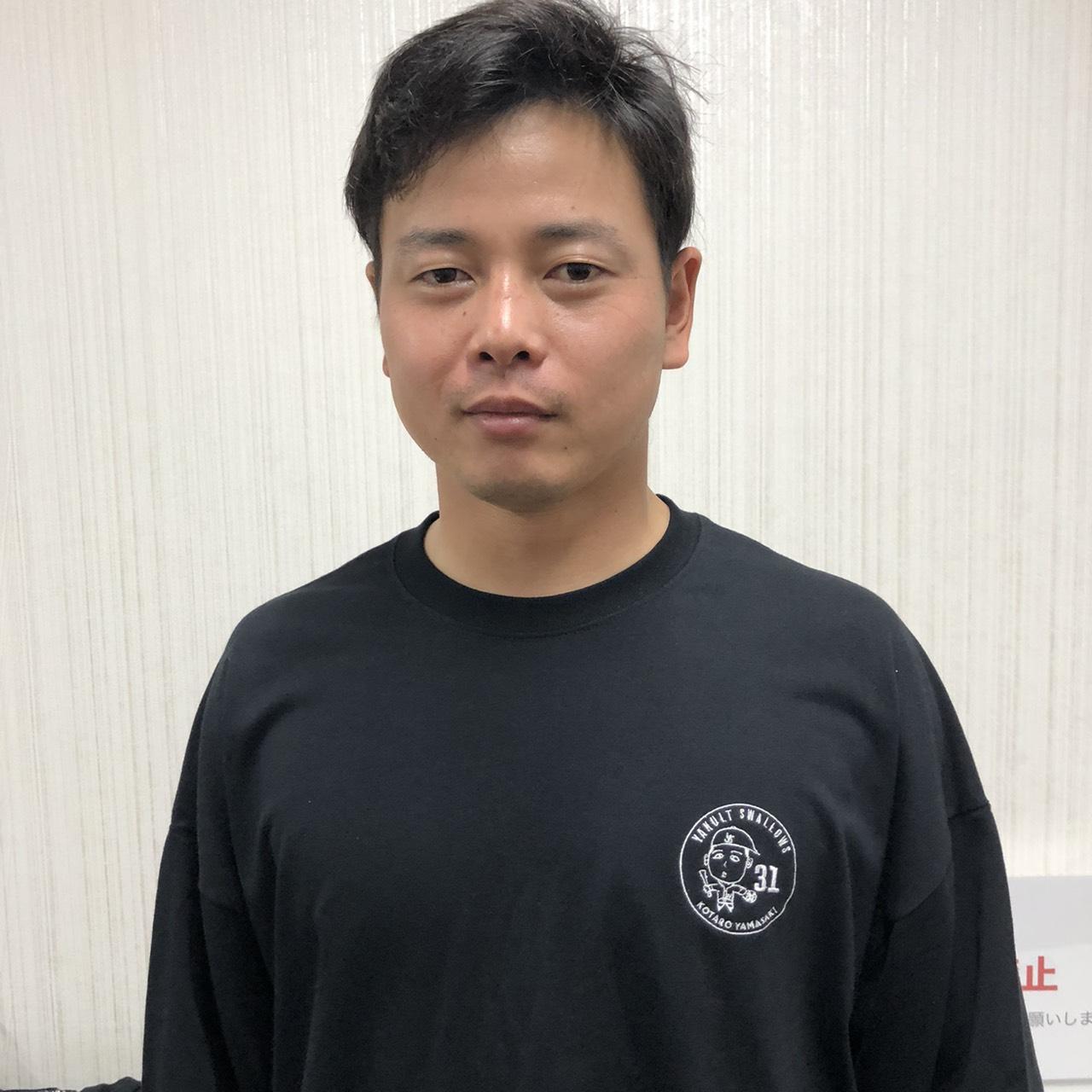 山崎選手自画像ビッグシルエットロングTシャツ(ブラック)