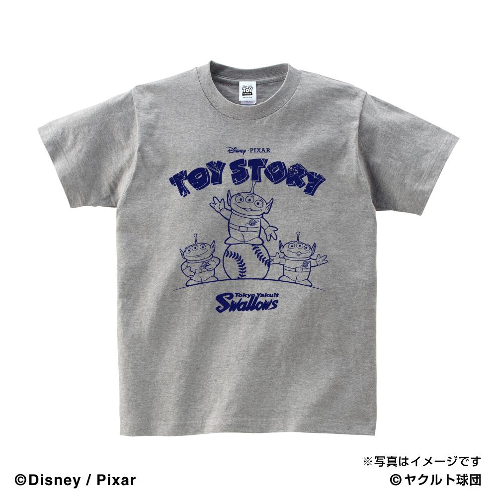 トイ・ストーリーコラボ SHOW TIME Tシャツ(グレー)