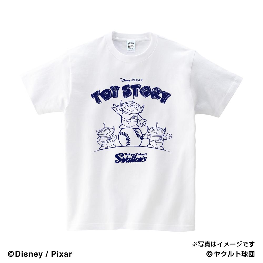 トイ・ストーリーコラボ SHOW TIME Tシャツ(ホワイト)