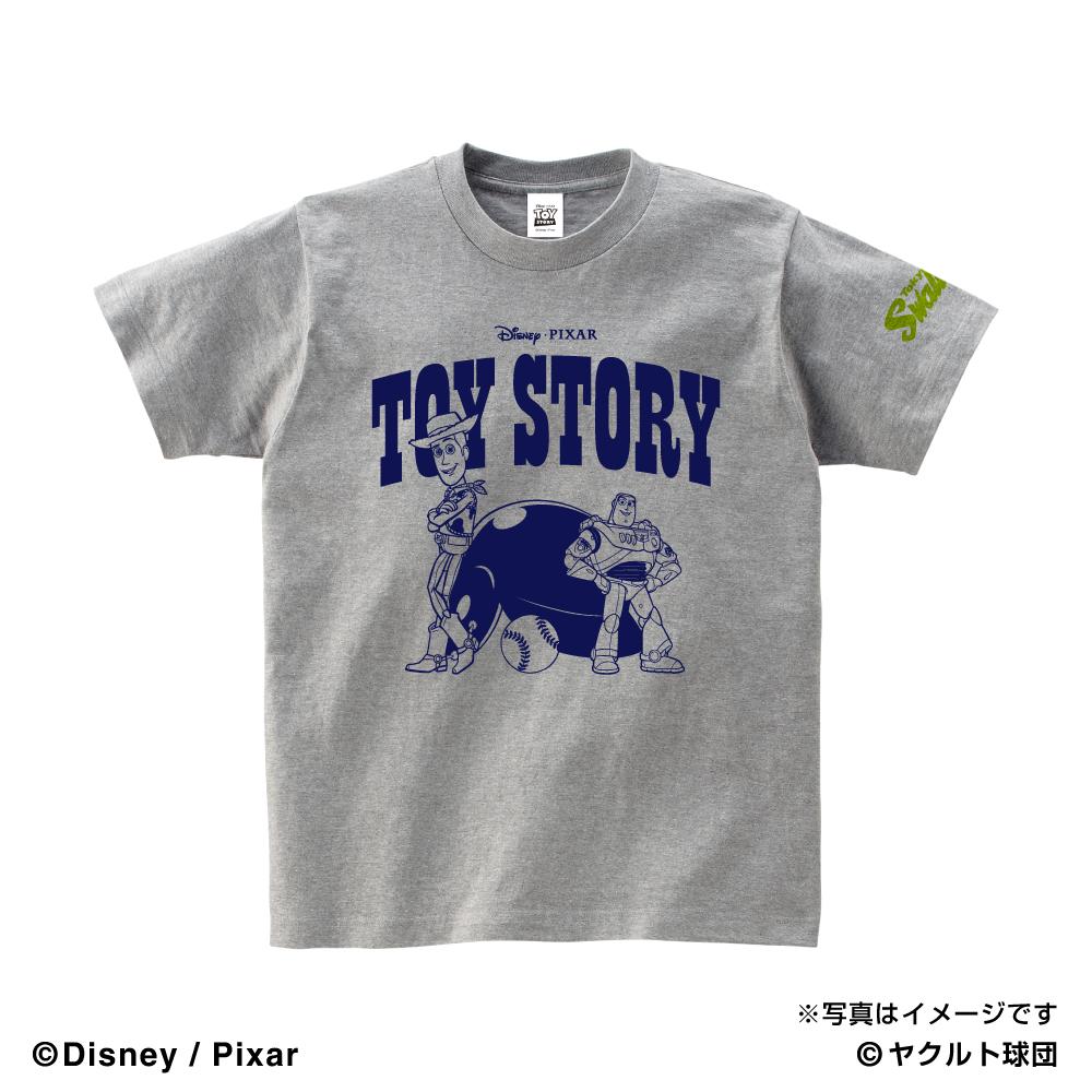 トイ・ストーリーコラボ WOODY&BUZZ キッズTシャツ(グレー)