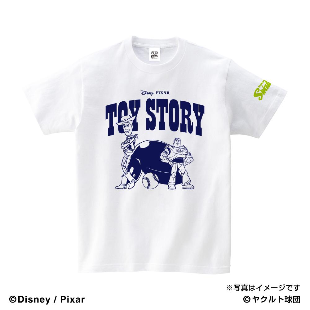 トイ・ストーリーコラボ WOODY&BUZZ キッズTシャツ(ホワイト)