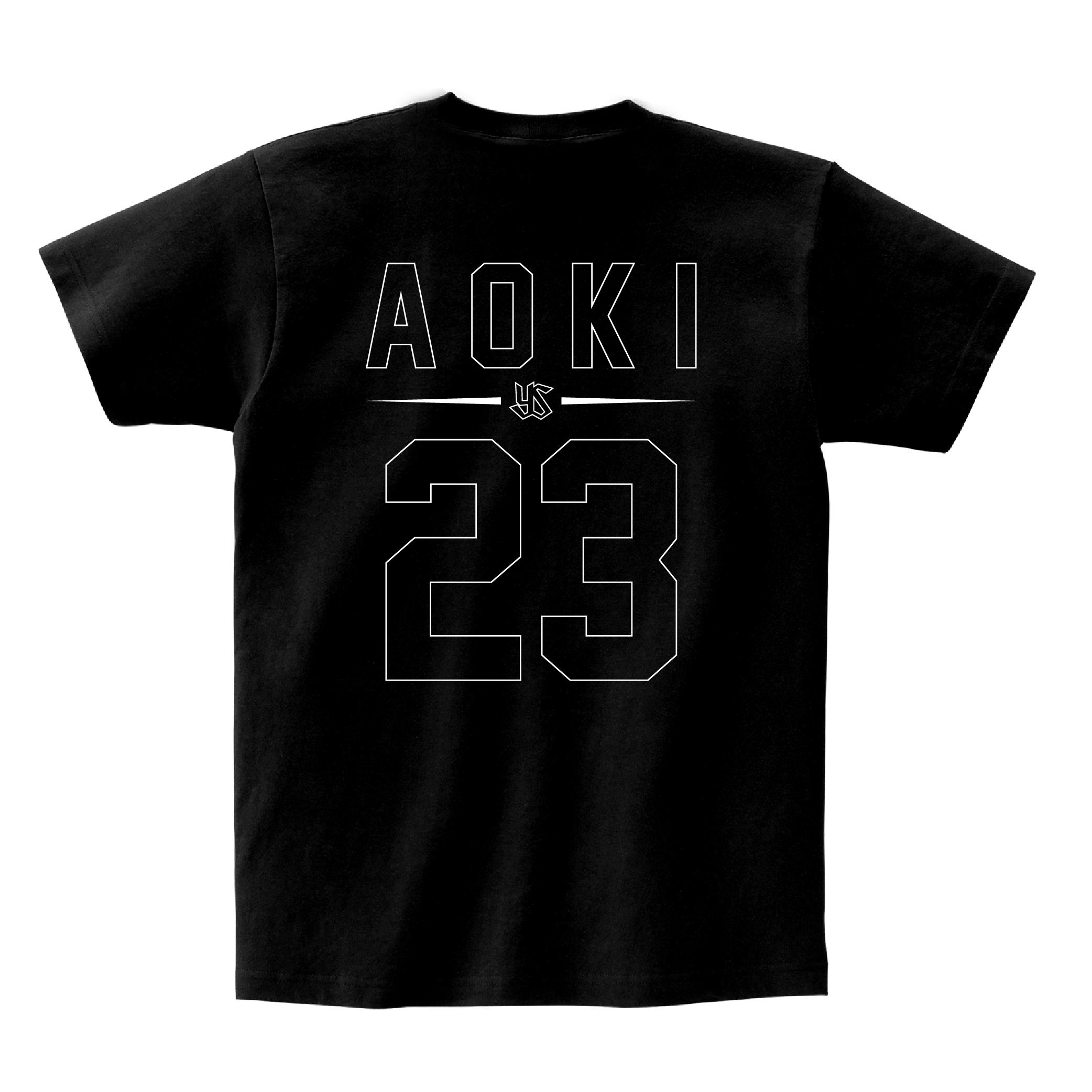 ネーム&ナンバーTシャツ(親子 de Tシャツ)#23 青木