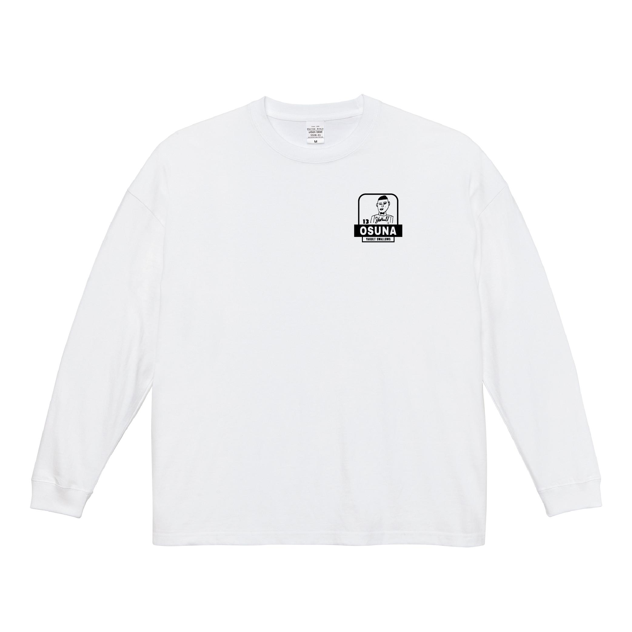 オスナ選手自画像刺繍ロングTシャツ