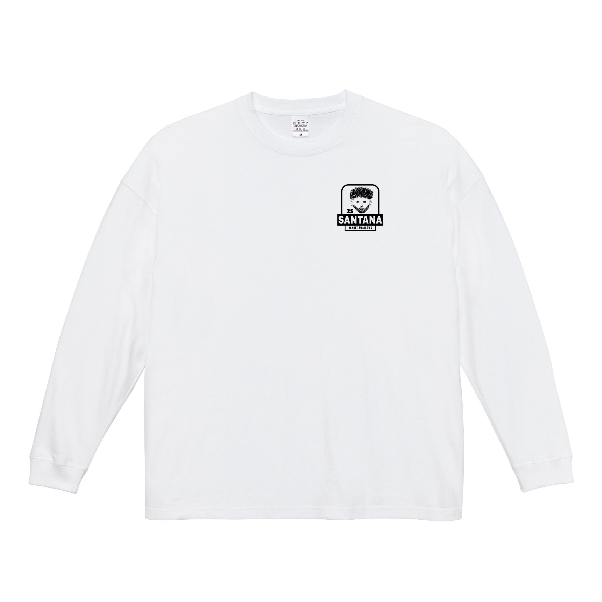 サンタナ選手自画像刺繍ロングTシャツ