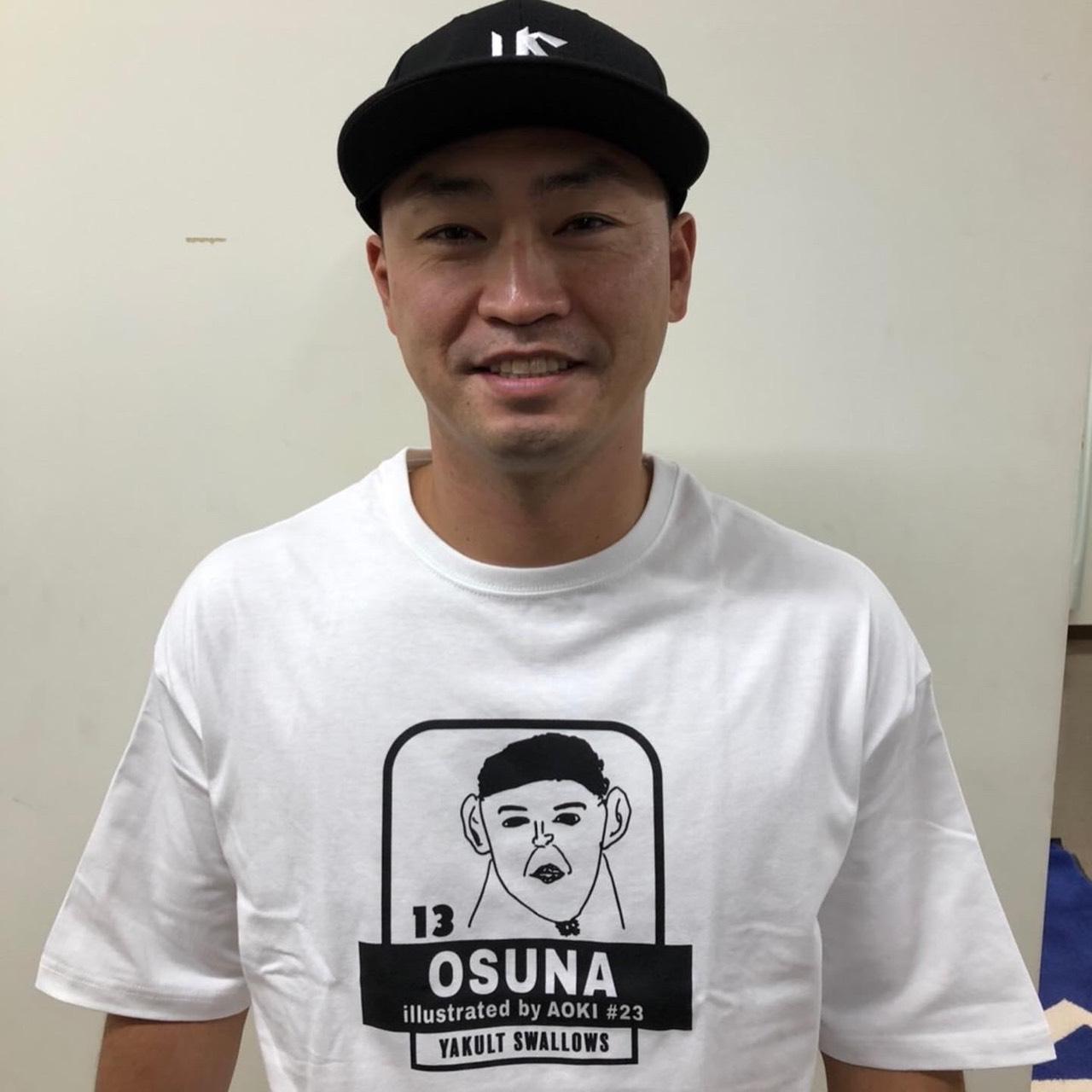 オスナ選手他画像(青木選手)プリントTシャツ