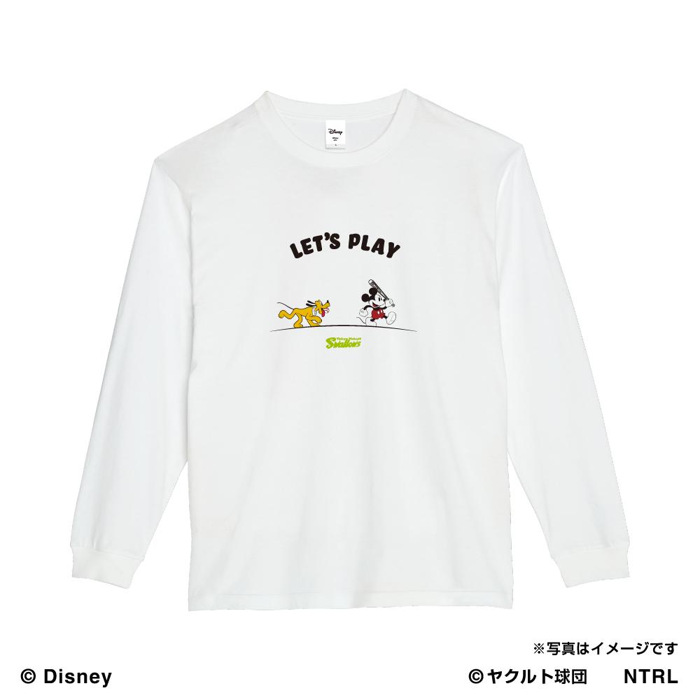 スワローズ×ミッキーマウス(LET'S PLAY)ロングTシャツ