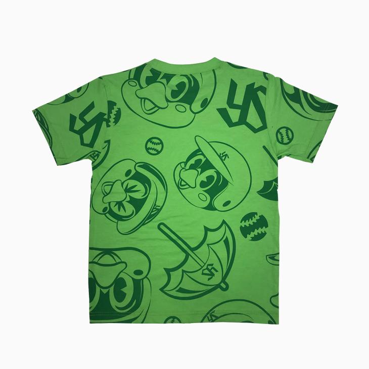 つば九郎総柄KidsTシャツ(グリーン)