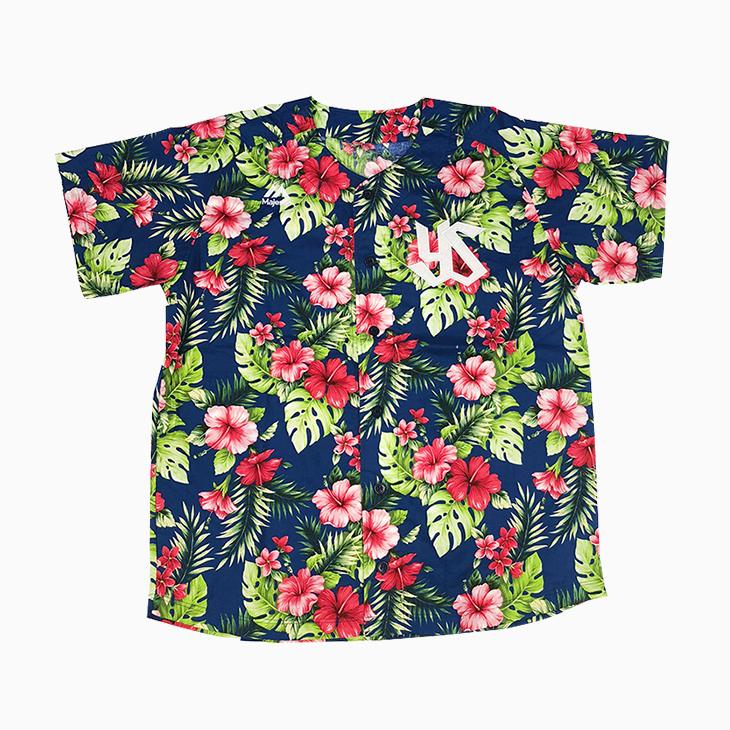 アロハ柄Baseballシャツ