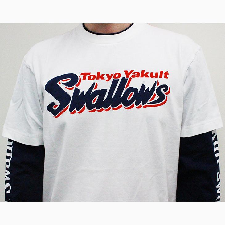 フェイクレイヤードTシャツ(Swallows)