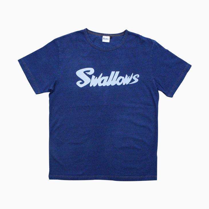 インディゴプリントTシャツ(Swallows)