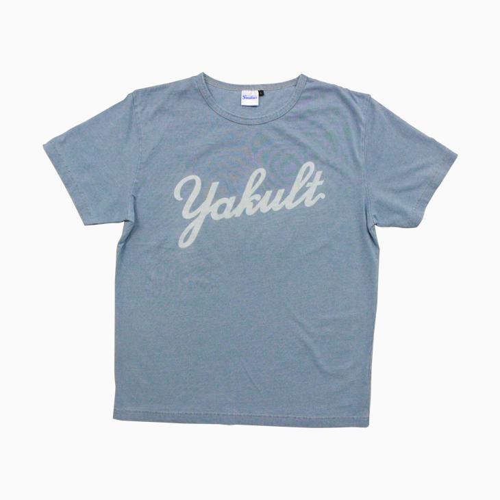 インディゴプリントTシャツ(yakult)