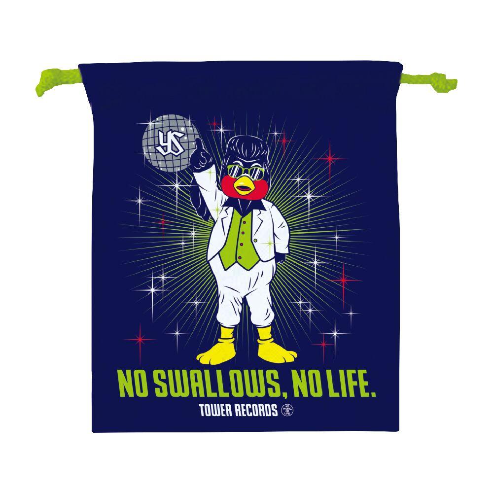 ディスコつば九郎巾着(NO SWALLOWS, NO LIFE.)