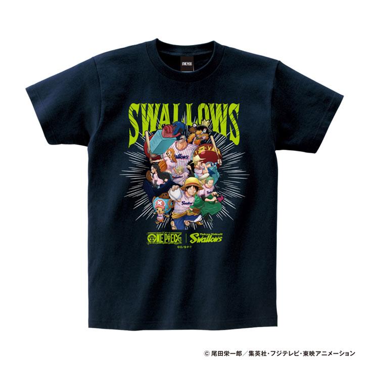 ワンピース×スワローズTシャツ(麦わらの一味)