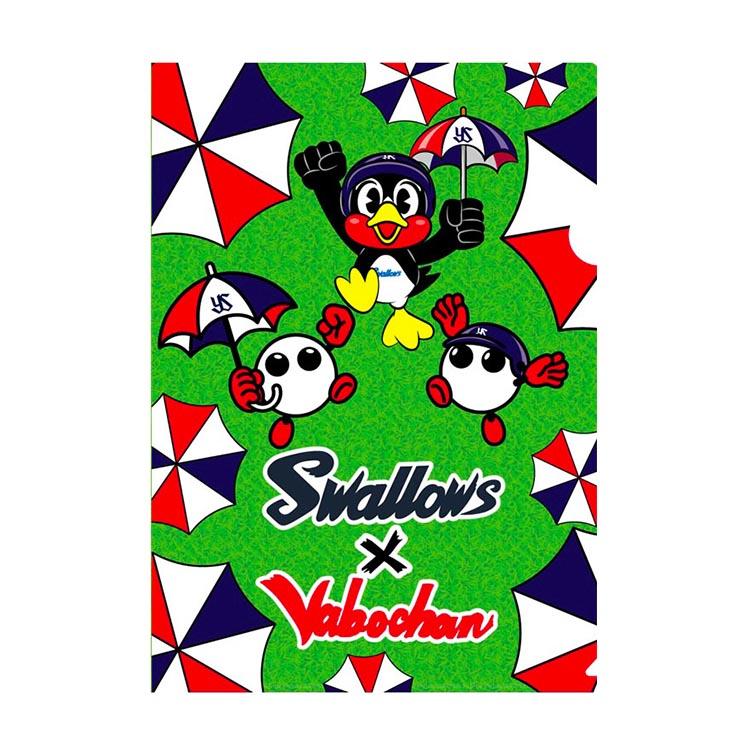 Swallows×バボちゃんクリアフォルダー