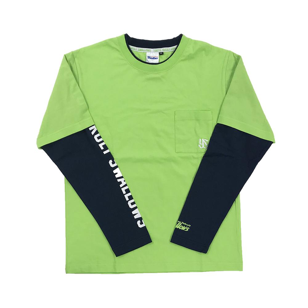 フェイクレイヤードポケットロングTシャツ