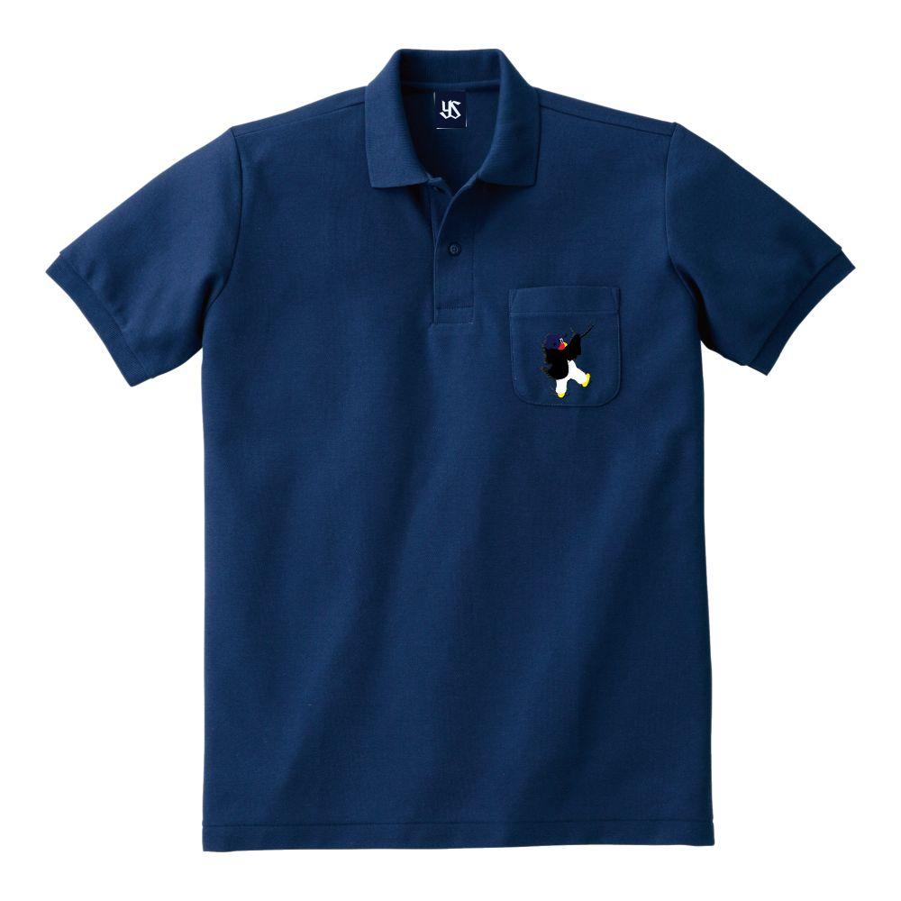 ポケット刺繍ポロシャツ(しがみつくつば九郎)