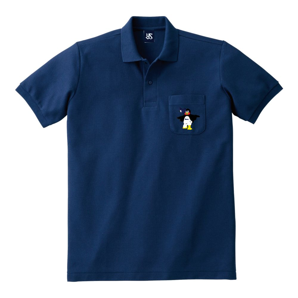 ポケット刺繍ポロシャツ(くるりんぱつば九郎)