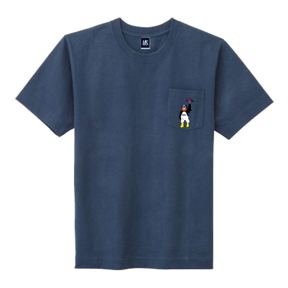 ポケット刺繍Tシャツ(舞い降りるつば九郎)