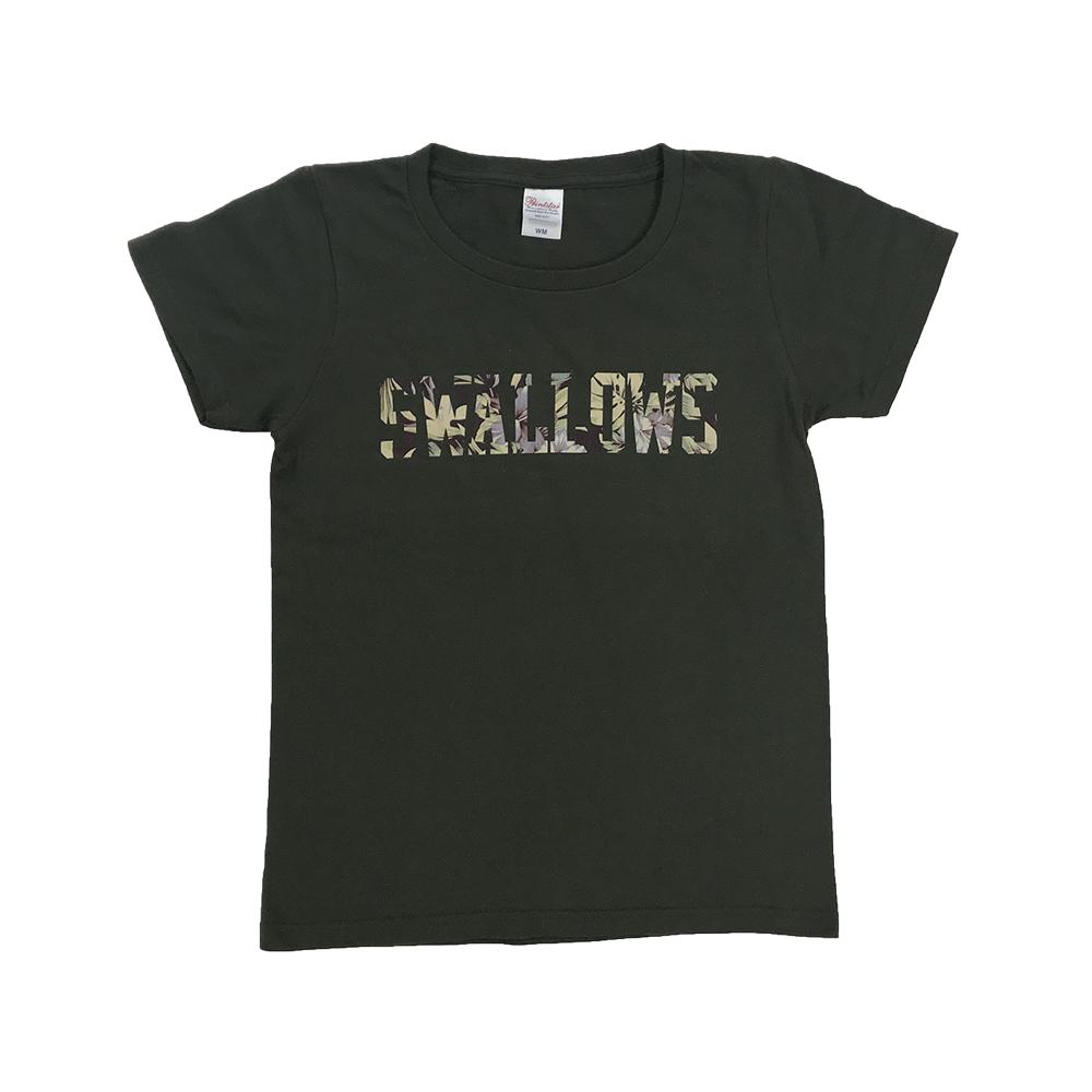 Swallows花柄レディースTシャツ