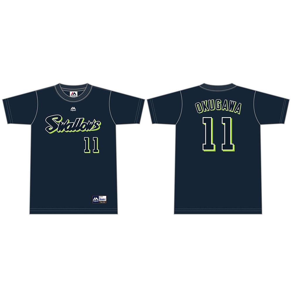 ネーム&ナンバーTシャツ(ネイビー)11奥川