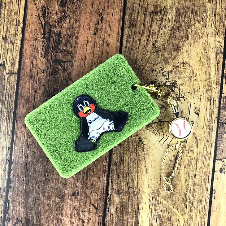 SWALLOWS×Shibaful カードケース(おすわり)