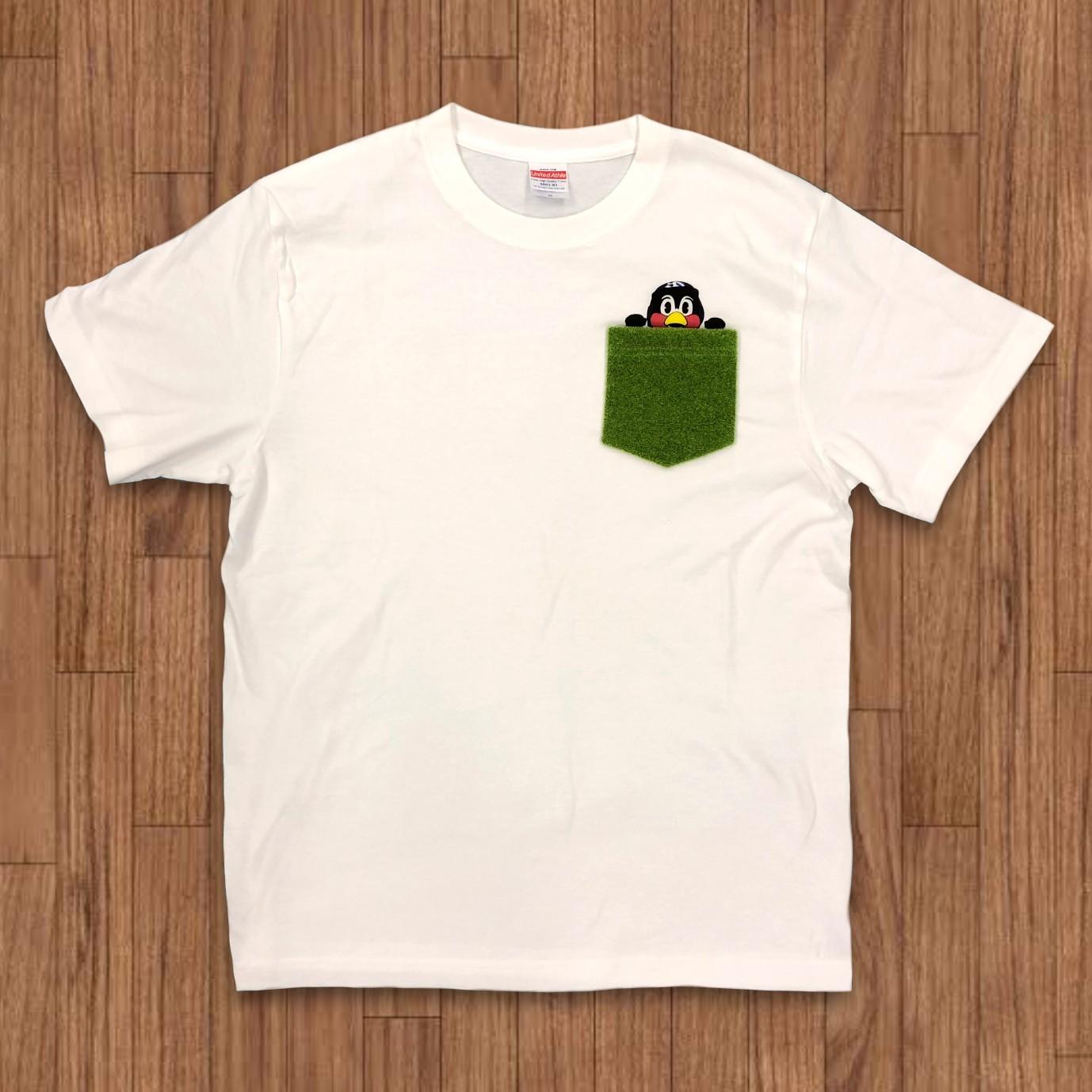 SWALLOWS×Shibaful Tシャツ(ひょっこり)