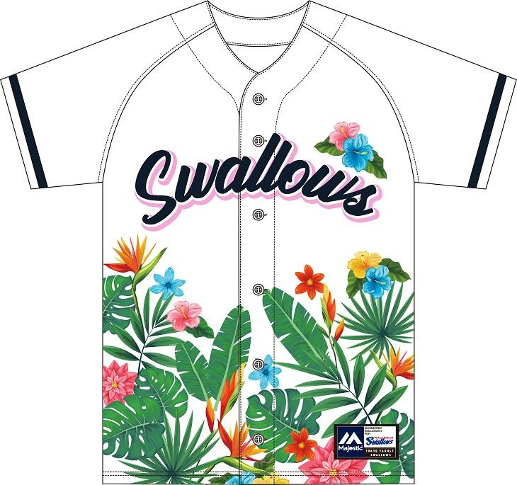 サマーベースボールシャツ(ボタニカル)