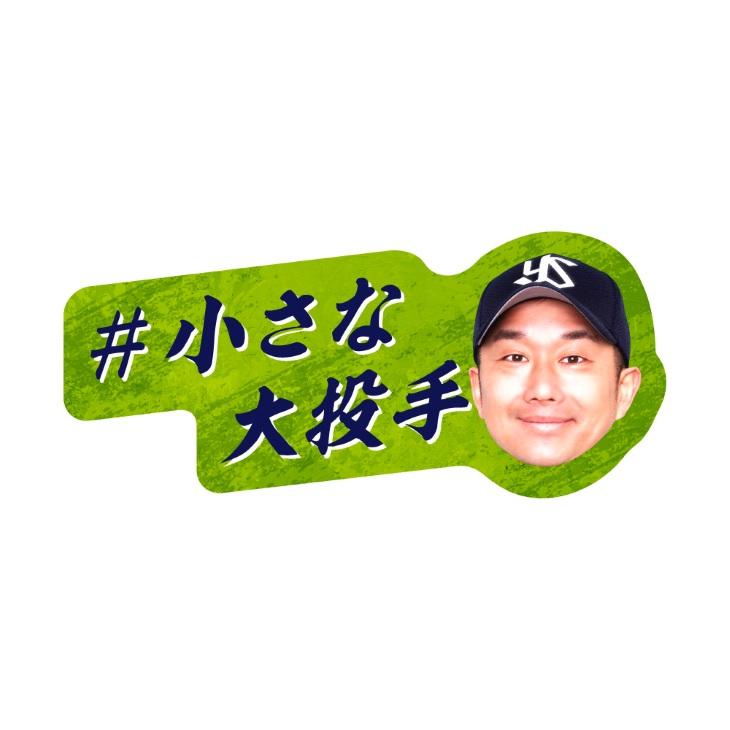 ダイカットステッカー(小さな大投手)