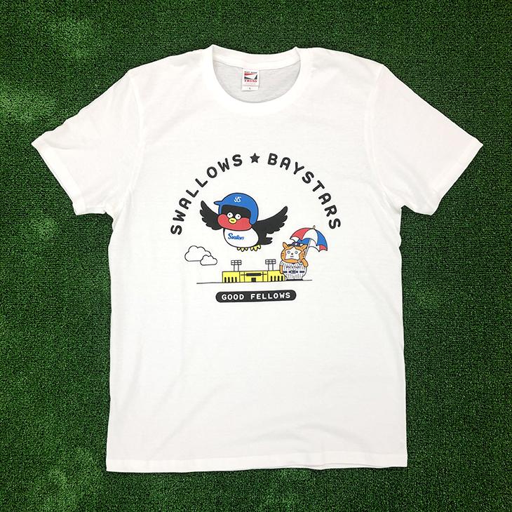 SWALLOWS×DB.スターマン×Seiji MatsumotoコラボTシャツ(ホワイト)