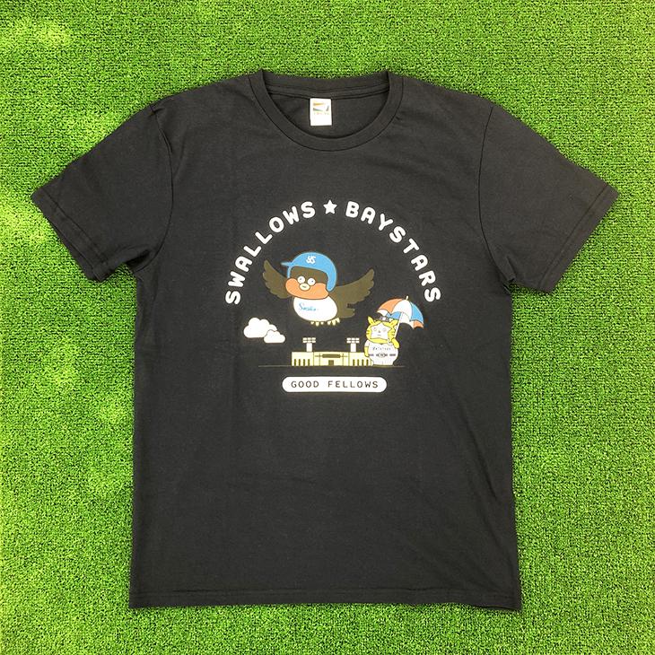 つば九郎×スターマン×Seiji MatsumotoコラボTシャツ(ネイビー)
