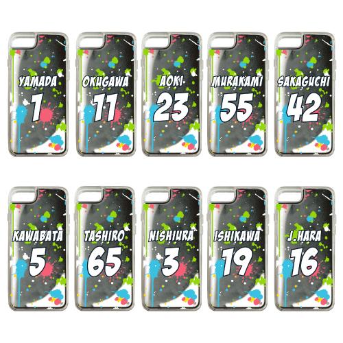 ネオンサンドiPhoneケース(スプラッシュ/ホワイト×ブラック )