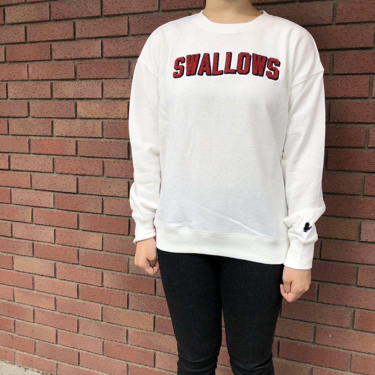 サガラ刺繍トレーナー(SWALLOWS)