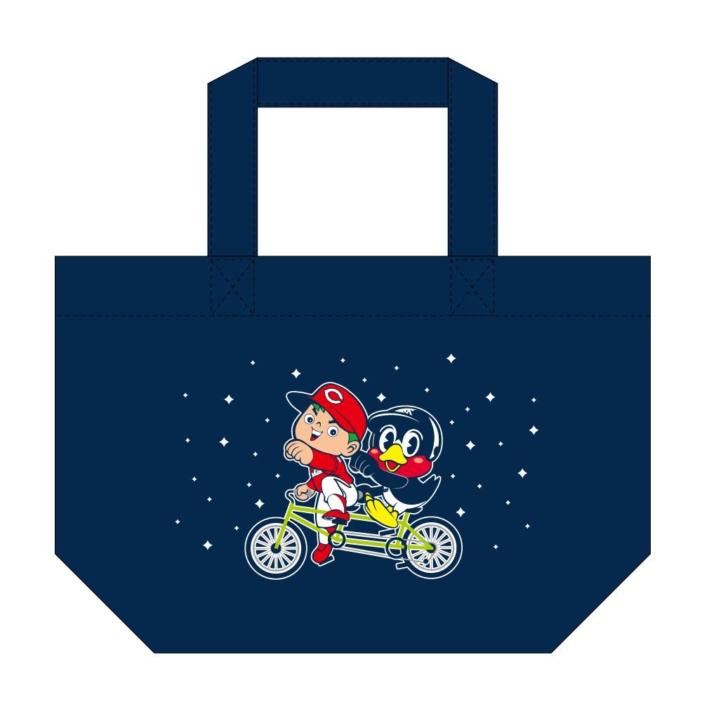 つば九郎×カープ坊やコラボミニトートバッグ(自転車)