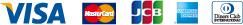 VISA・MasterCard・JCB・American Express・Diners Club